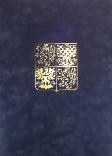 Velurové desky se zlatotiskem