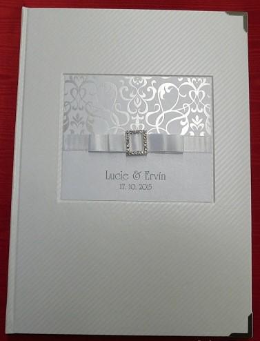 Svatební desky z bílé umělé kůže